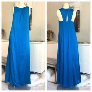 New Banana Republic SILK cerulean maxi 4